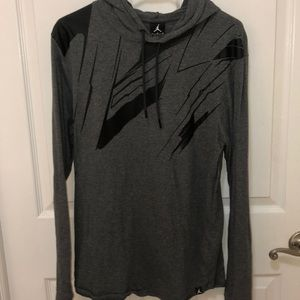 Jordan long sleeve hooded t-shirt